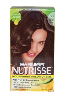 Nutrisse Nourishing Color Creme 50 Medium Natural Brown By Garnier For Unisex - 1 Application Hair Color