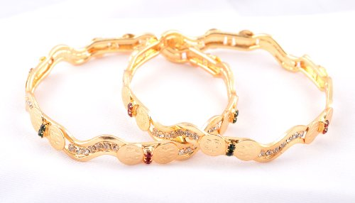 Bhagvathi Fashion Jewellery Contemporary Collection Gold Bangle (STB083) (yellow)