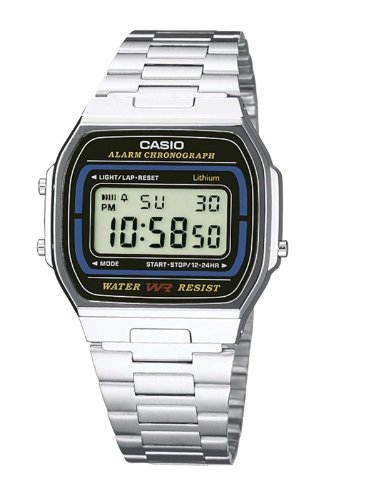 Casio A164WA-1VES Men's Digital Bracelet Watch