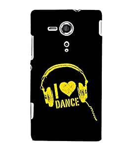 I Love Dance 3D Hard Polycarbonate Designer Back Case Cover for Sony Xperia SP :: Sony Xperia SP M35h