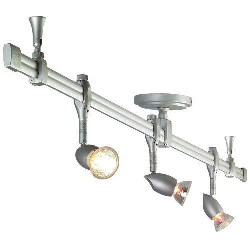 Nora Lighting Nrs21-4104Bz 3 Light Straight Rail Track Lighting front-1017188