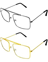 Y&S Combo Pack Of Unisex Stylish Spectacle Frame (ReS-ReG-01-17|31|Silver) - 2 Boxes