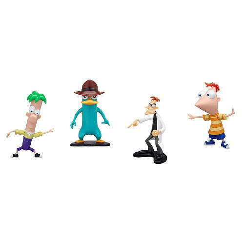 Disney Phineas and Ferb PVC Collector Pack Phineas, Ferb, Agent P & Dr. Doofenshmirtz