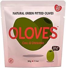 Oloves Chilli & orégano adobado sin hueso de las aceitunas verdes 30g