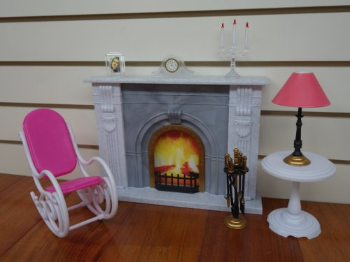 Gloria Fireplace Play Set (Dollhouse Furniture Fireplace compare prices)