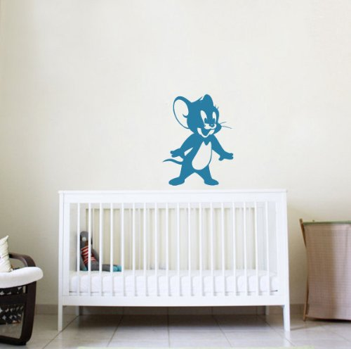 Children Room Baby Child Picture Cartoon Hero Mouse Little Animal Wall Bedroom Wall Vinyl Decal Sticker Art Design 309 back-1022270