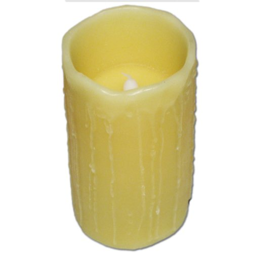 LED Echtwachs-Kerze mit Pustfunktion - Größe 15cm