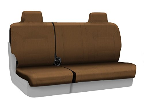 Coverking Rear 60/40 Bench Custom Fit Seat Cover For Select Jeep Compass Models - Ballistic (Tan) front-414864
