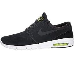 Nike Men\'s Stefan Janoski Max L Black/Black/Cyber/White Skate Shoe 9.5 Men US