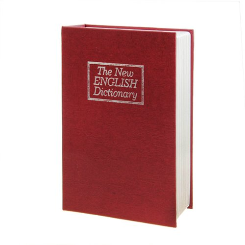 Packnbuy Big Size Dictionary Book Safe Red Color with Numeric Lock Tijori NEW Design