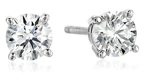 IGI Platinum Round Cut Diamond Stud Earrings (3/4 cttw, G-H Color, VS2 Clarity) (Diamond Stud Earrings Platinum compare prices)