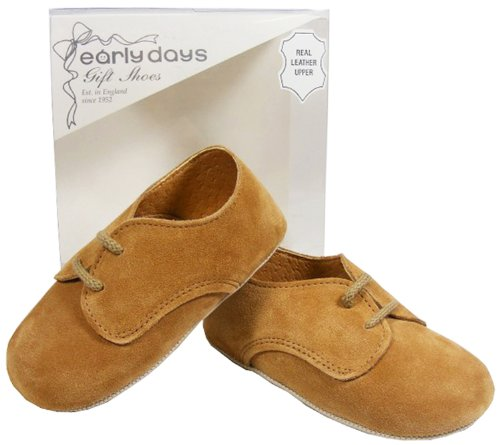 Baby Toddler Boys EARLY DAYS Brown Leather Christening Shoes SIZE 0 1 2 3 4 5 6