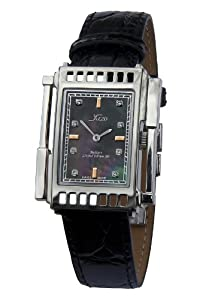 Xezo Unisex Architect Swiss Made Watch. Natural Black Mother-of-Pearl. 5ATM WR