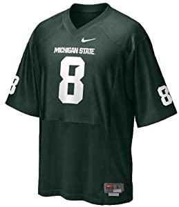 Michigan State Sparatans Youth Green #8 Replica Jersey by Nike by Nike