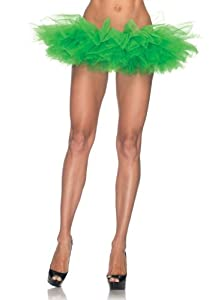 Leg Avenue Organza Tutu, Kelly Green, One Size