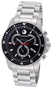 Movado Men's 2600090 Series 800 Performance Steel Black Round Dial Watch from Movado