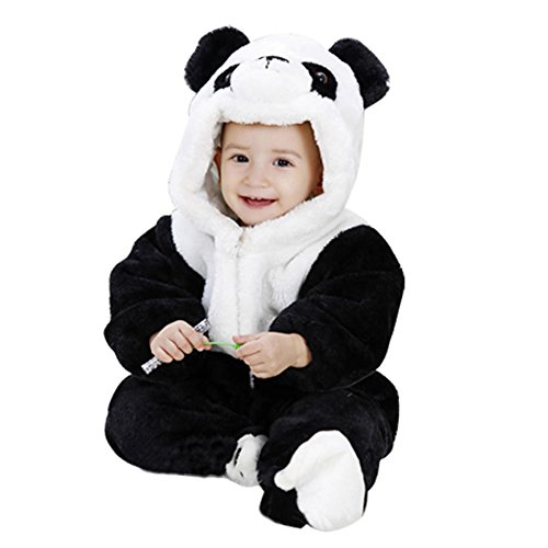 Cute Baby Suit Cosplay Panda Romper Baby Layette Super Warm (65Cm(1-6Months))