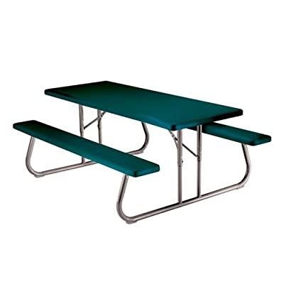 Lifetime 22119 6ft Molded Top Folding Picnic Table