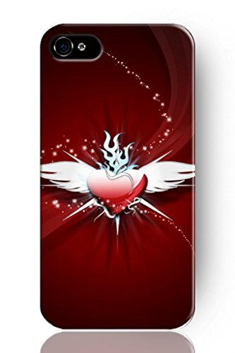 Sprawl Original New Hard Skin Case Cover Shell For Mobilephone Apple Iphone 4 4S, Interesting Fashion Design With Love Wings front-1072701