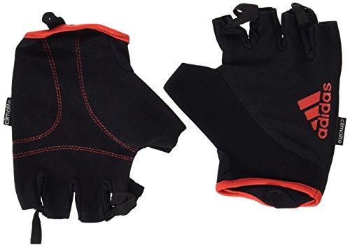 Adidas - Guanti da Fitness, Nero/Rosso, XL