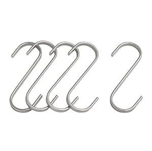 "Ikea 5 Stainless Steel Hooks 3"" Kitchen Utensil Pot Pan Hanger Storage Organizer Grundtal"