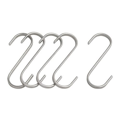 Ikea Stainless Steel S-hook 700.113.97, 2.75-inch, Pack of 5
