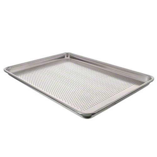 Vollrath 5303P Aluminum Wear-Ever Heavy-Duty 18-Guage Closed Bead Natural Perforated Sheet Pan, 1/2 Size
