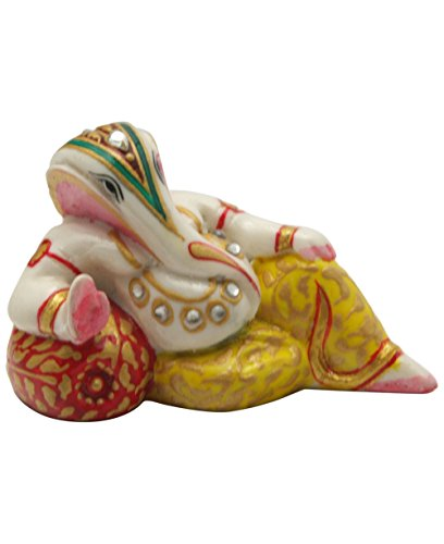 Mini Hand-painted Relaxing Ganesha Statue