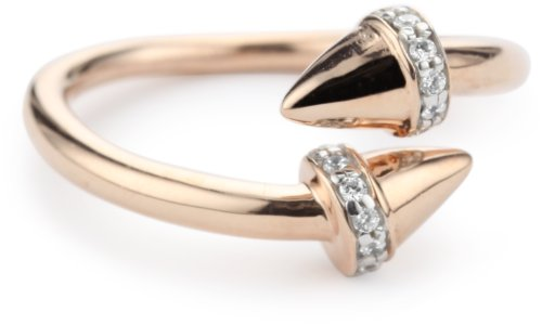 Nicky Hilton Sterling Silver With 18k Gold Wash Spike Ring, Size 7