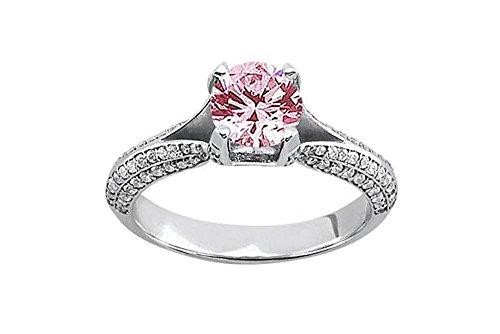 151-CT-Rosa-Wei-Rund-Diamanten-Verlobungsring-Gold