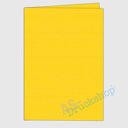 faltkarte doppelkarte din a5 soleil gelb gerippt 1 st ck. Black Bedroom Furniture Sets. Home Design Ideas
