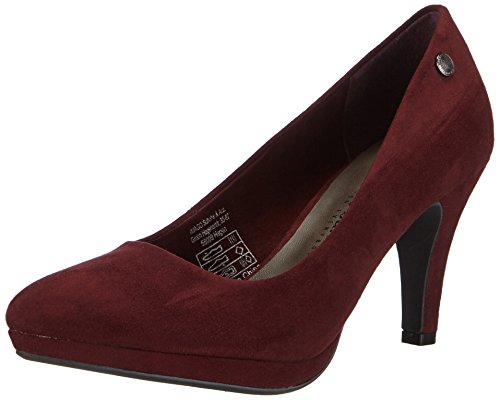 Bruno Banani Pumps, Decolleté open toe donna, Rosso (Rot (Dk.Red 558)), 37