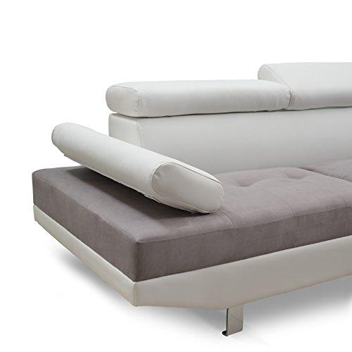 Divano Roma Furniture Mid Century Linen Fabric Loveseat