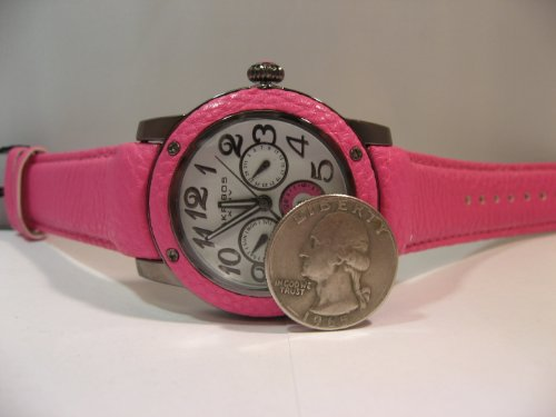 Akribos Xxiv Women'S Ak560Rd Quartz Multi-Function Genuine Leather Watch