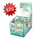 Zig Zag Filter Tips Slim Menthol Box Of 10 Bags