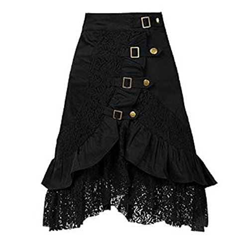 Wenfengshop-Black-Lace-Gothic-Goth-Victoria-Punk-Rock-Ball-Gown-Asymmetrical-Skirt
