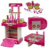 Kitchen Set Kids Luxury Battery Operated Kitchen Playset Super Toy For Girls