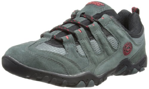 Hi-Tec Mens Quadra Classic Trekking and Hiking Boots O000813/051/01 Grey/Black/Red 8 UK, 42 EU