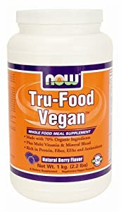 Now Foods Tru Food Whole Food Vegan Meal Berry, 2.2-Pound