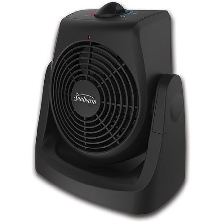SunBeam Electric Personal Portable Space Heater Fan with Adjustable Thermostat (Sunbeam Heating Blanket Cord compare prices)
