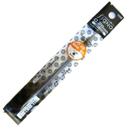 Umr - 1-28 Uni-ball recharge pour stylo à encre Gel - 0,28 Mm-Noir-Boîte de 12