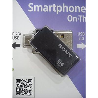 Sony USM64SA2/B 64 GB USB Flash Drive (Black)