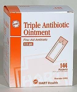 HART Health Triple Antibiotic Ointment, 0.5 gm Packet, 144/box
