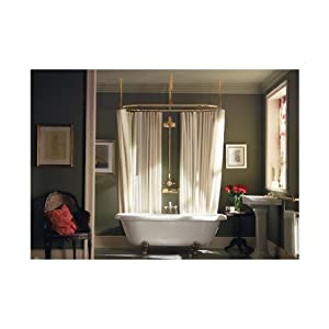 Amazon.com: Clawfoot Add-a-shower with Oval Curtain Rod with