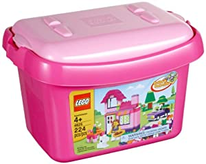 (历史最低)LEGO乐高4625创意组合积木粉红桶$11.24 Bricks and More Pink Brick Box