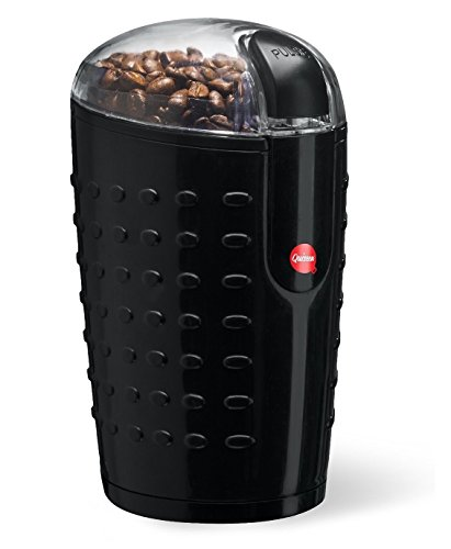 Great Features Of Quiseen One-Touch Electric Coffee Grinder. Grinds Coffee Beans, Spices, Nuts and G...