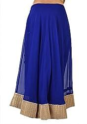 Ambitione Designer Women Blue colored Skirt_L