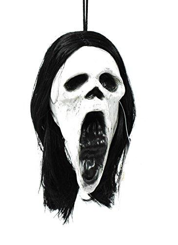 "Shrunken 5 1/2"" SCREAM FACE Head with Dangler - Halloween Party Supplies"
