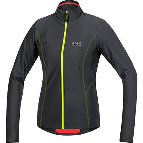 GORE BIKE WEAR, Maglia Ciclismo Donna, Calda e isolante, GORE Selected Fabrics, ELEMENT LADY Thermo Jersey, Taglia 38, Nero/Giallo, SELETL990804