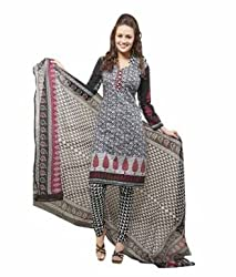Airfashion Women's Unstiched Dress Material (Palak823_Multicolour_Free Size)